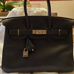 Hermes Birkin 35 Tote Bag Togo Leather